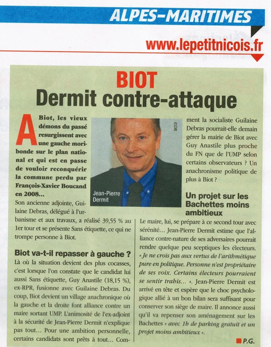 ©Le Petit Niçois - édition du 28 mars 2014