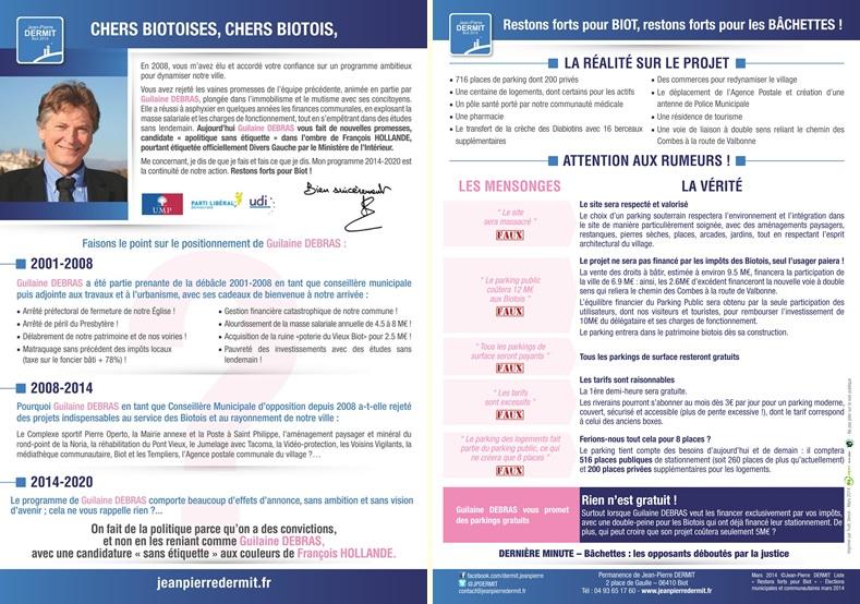 Tract-Jean-Pierre-DERMIT-Liste Restons forts pour Biot-Mars-2014-BIOT_01-horz