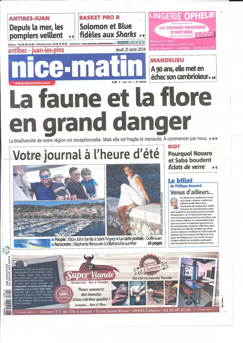 NOVARO ECLATS VERRE NICE MATIN 21 AOUT 2014 2 pages_Page_1