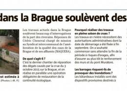 Travaux dans La Brague: pourquoi maintenant? - Nice Matin 19/10/2016.