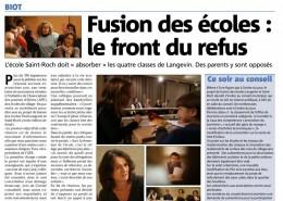 Mobilisation contre la fermeture de l'école Paul Langevin! - Nice Matin 08/12/2016