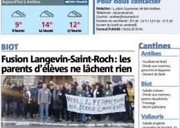 Ecole Langevin : Les parents d'élèves ne baissent pas la garde ! - Nice Matin 15/12/2016