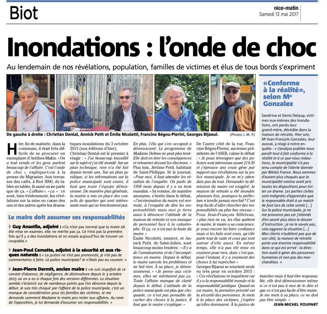 les biotois demandent la démission du conseil municipal - nice matin du 13 05 2017